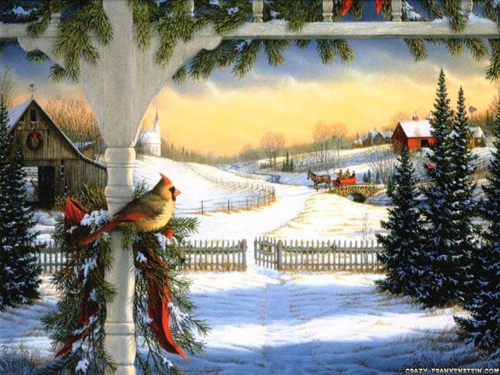 открытки зимний лес с новым годом для расчетов