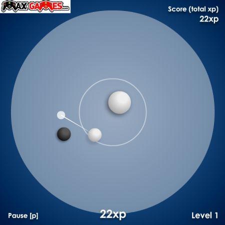 Не дай черным шарикам выбить белый шар из круга