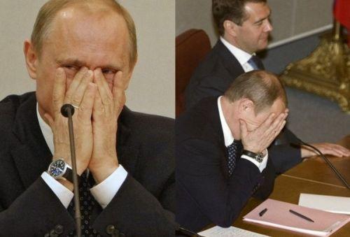 Во время выступления в Думе Жириновского, Путин не выдержал :)