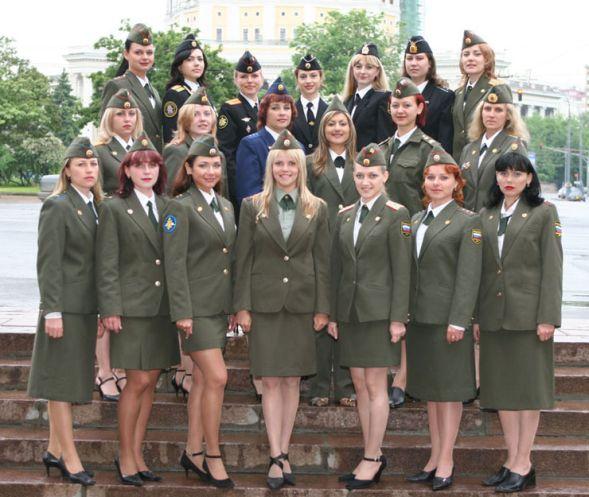 Девушки российской армии