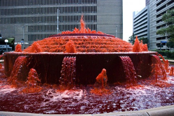 Оригинальный фонтан