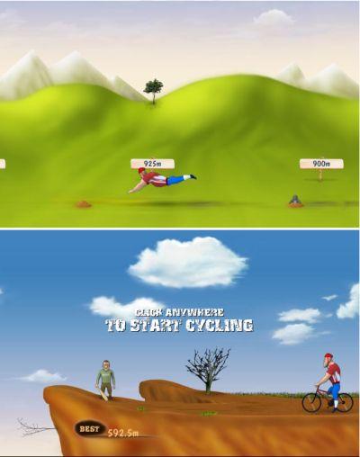 Ударь велосипедиста как можно дальше!