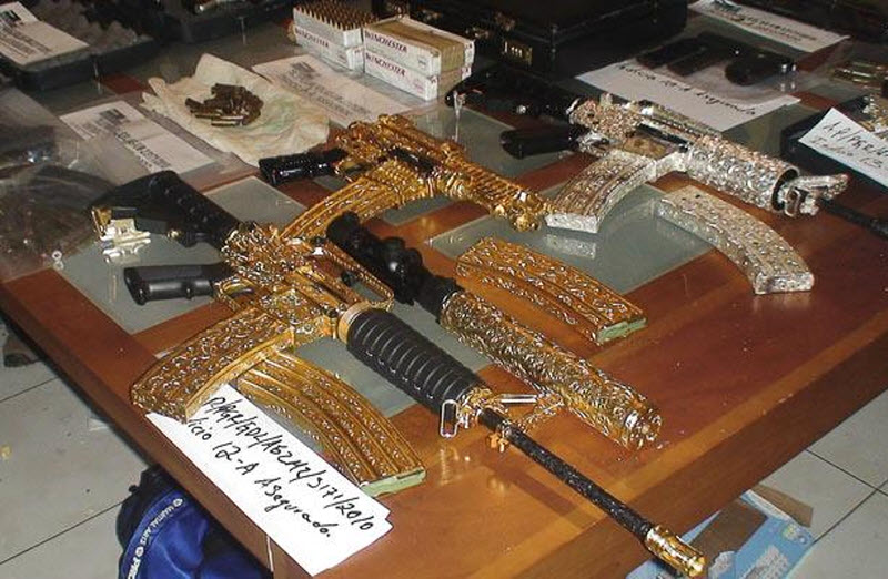 Стильное оружие мексиканского наркобарона