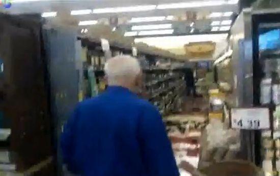Пьяная русская баба в магазине Сан-Франциско