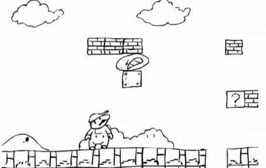 Пэкмен против Марио :)