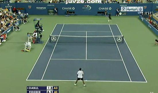 Фантастический удар Роджера Федерера