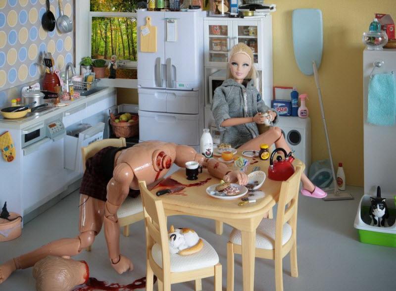 Не дай Бог у ребенка такое увидеть...