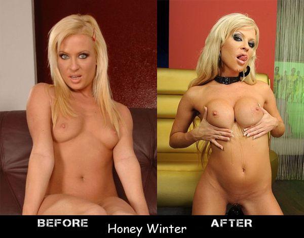 Как меняется грудь порно звезд