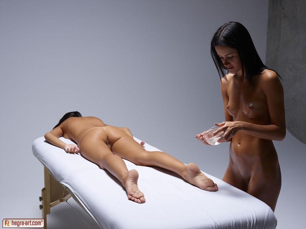 фото массаж голой