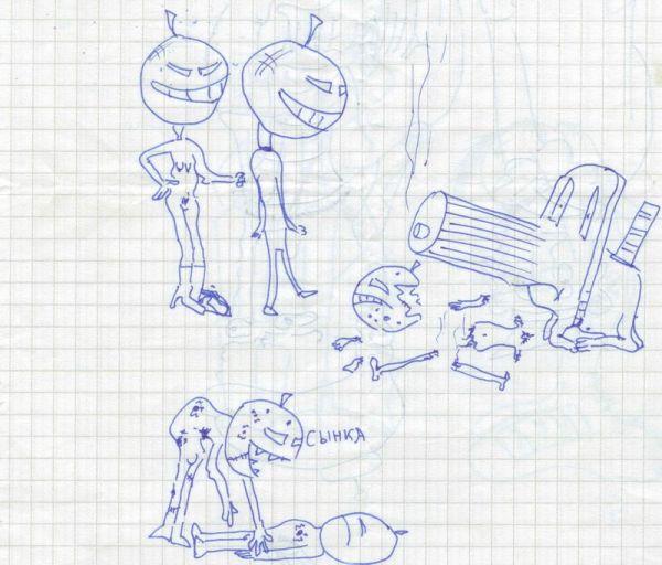 Детки рисуют в школе