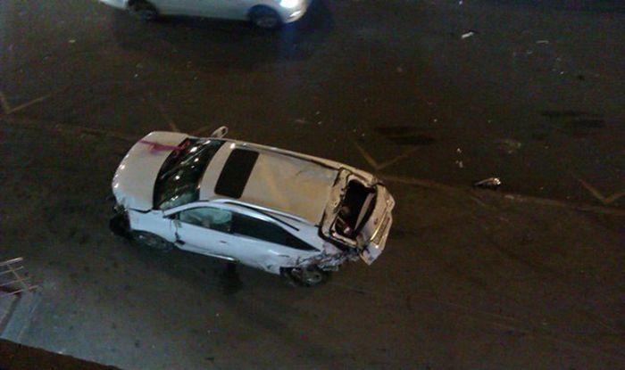 Серьезная авария по вине малолетки за рулем Cadillac Escalade
