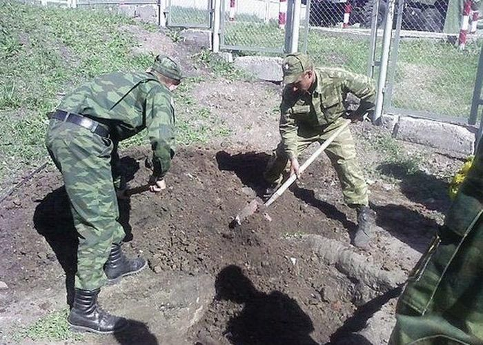 Торжественный армейский ритуал похорон бычка