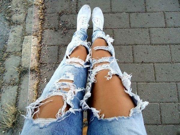 Очень рваные джинсы своими руками 86