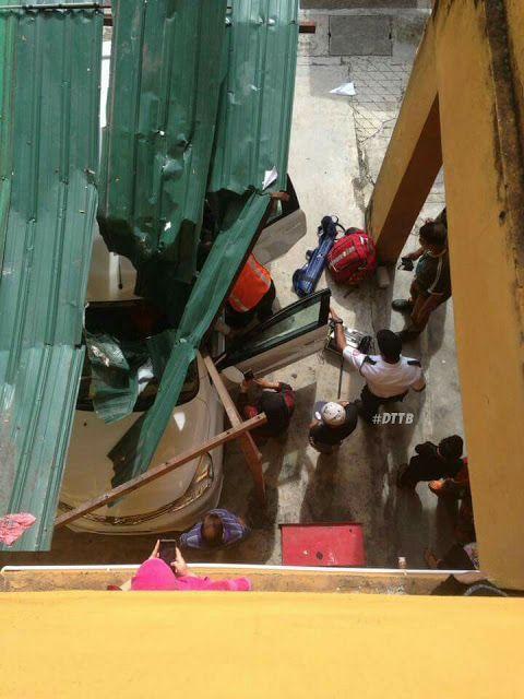 Паренек упал с 11 этажа, играя в футбол, и выжил после приземления на автомобиль