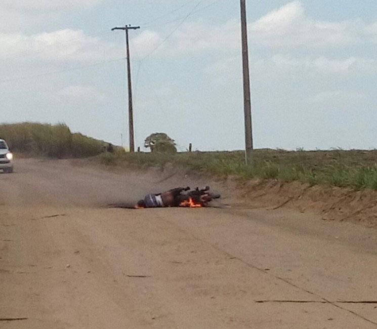 Высоковольтный провод убил мотоциклиста