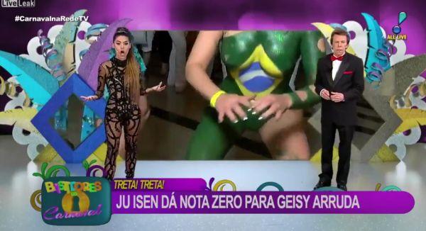 Прямой эфир на бразильском ТВ