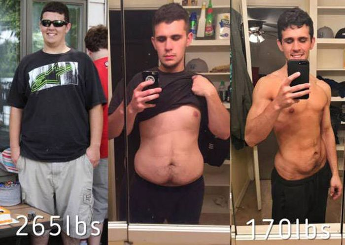 Мотивирующие фото похудевших людей