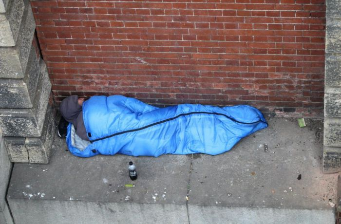 Убежище бомжа в центре Лондона