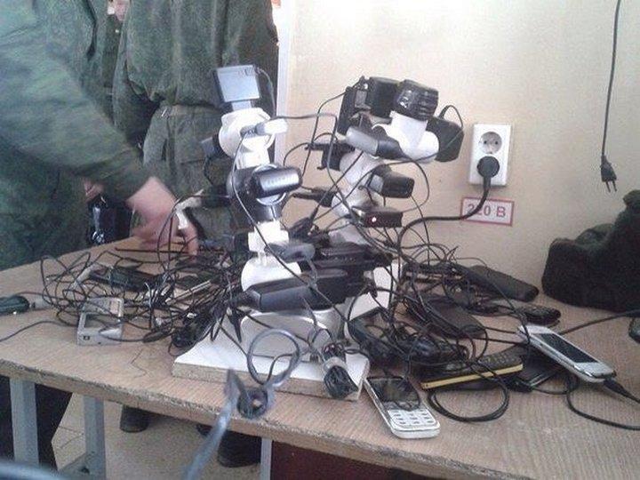 Как в армии телефоны заряжают