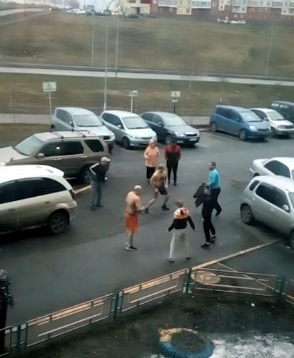 Синее побоище в Новокузнецке