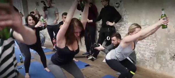 Пивная йога покоряет Россию