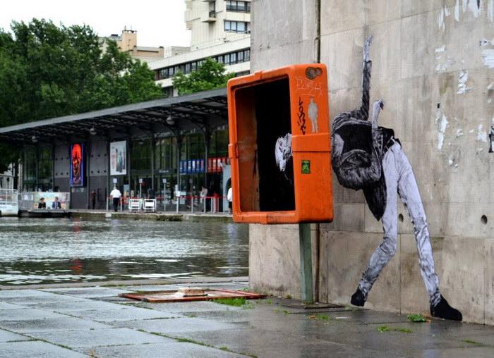 Работы художника, органично вписанные в уличное пространство городов