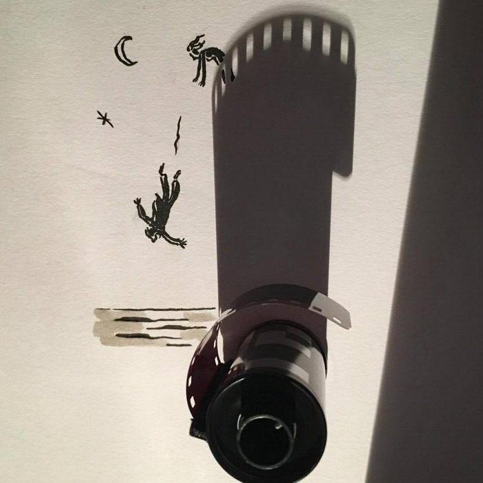 Иллюстратор создает рисунки с помощью правильных теней