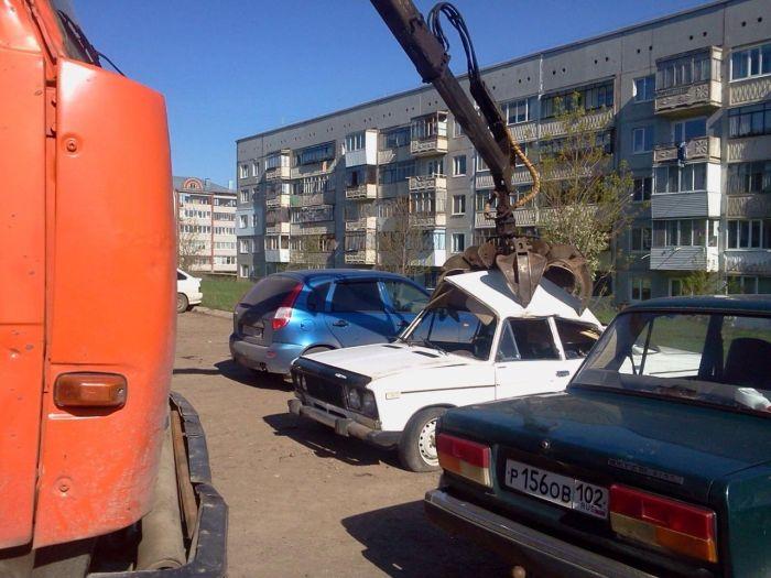 В Уфе с автомобилями не церемонятся