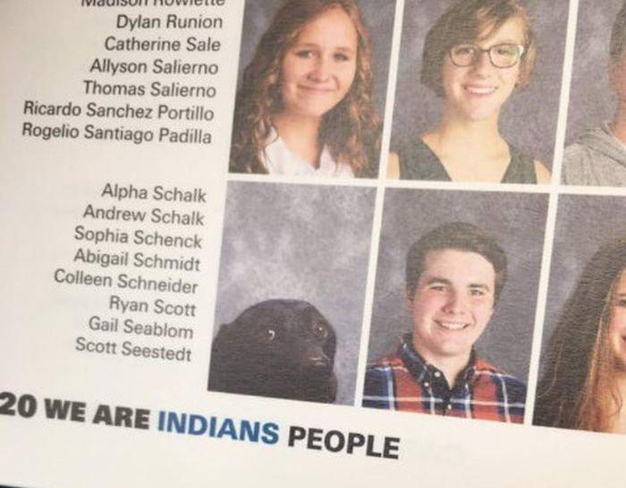 Собака попала в выпускной альбом