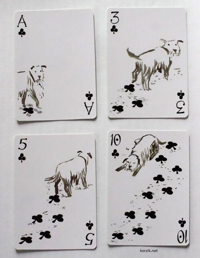 Первые игральные карты для любителей собак