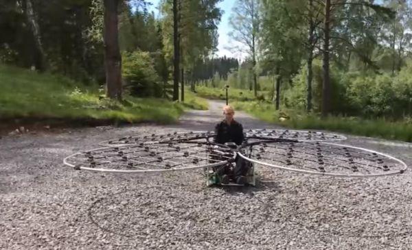 МегаДрон, способный поднять в воздух человека