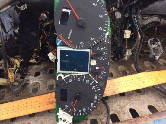 Стрелка спидометра разбитой Ауди зафиксировала 240 км/час