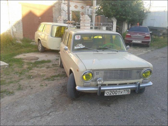 Тюнинг ВАЗа 2102 с прицепом