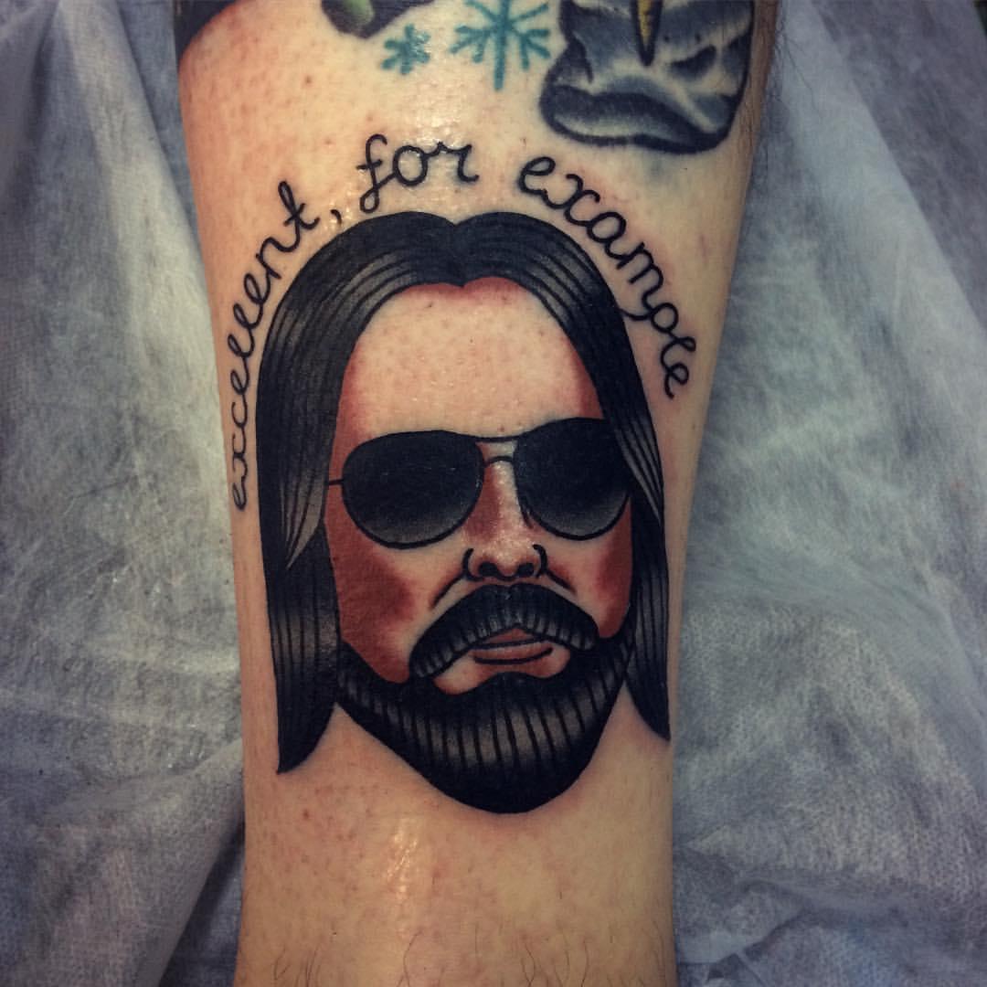 Новые татуировки от Егора Лещева