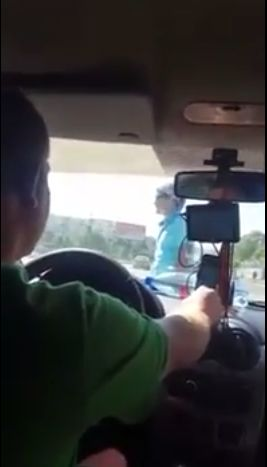 Вот так я сейчас еду на такси