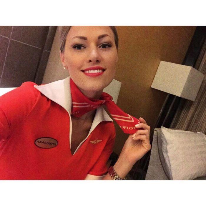 """Самая красивая стюардесса """"Аэрофлота"""""""