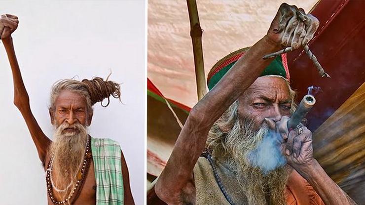 Индийский свято не опускает правую руку с 1973 года