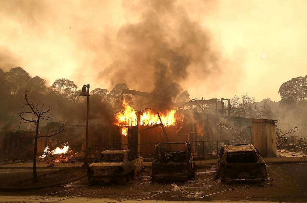 Калифорния в огне пожаров