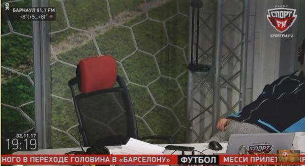 Василий Уткин упал со стула во время эфира