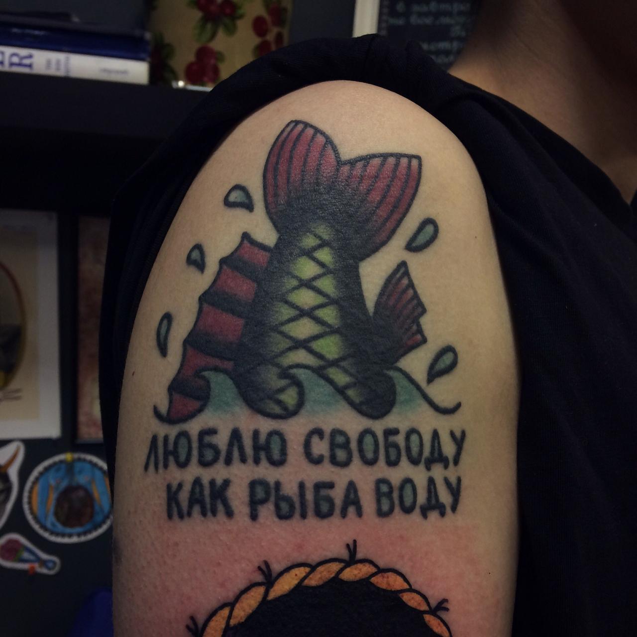 Егор Лещев и его шедевры тату в технике старой школы