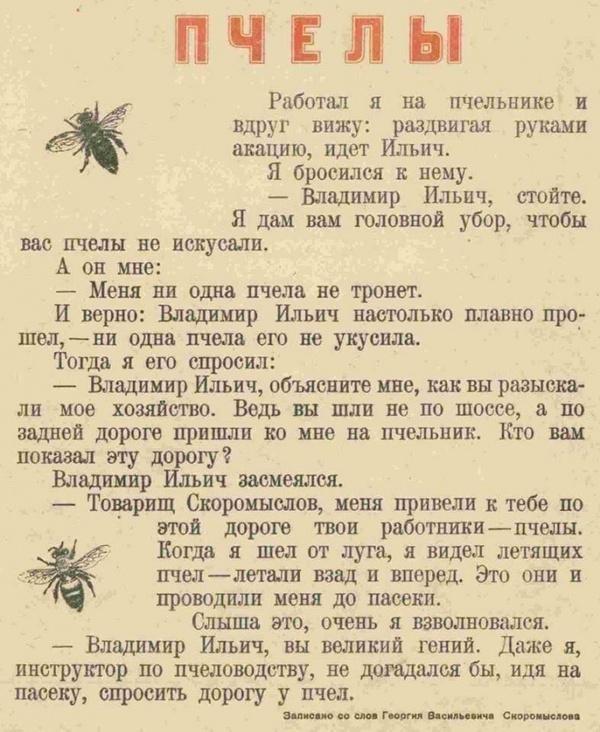 Ленин и пчелы