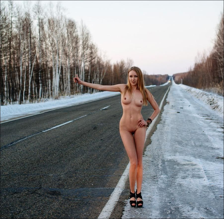 Naked girls on roads photos, young anal holes