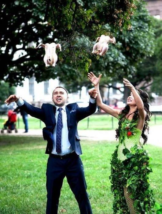 Странные свадебные фото