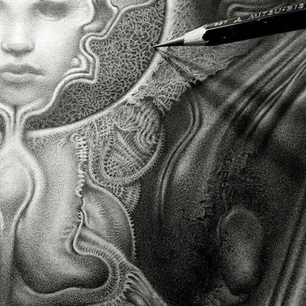Шикарные фэнтези-персонажи, нарисованные простым карандашом