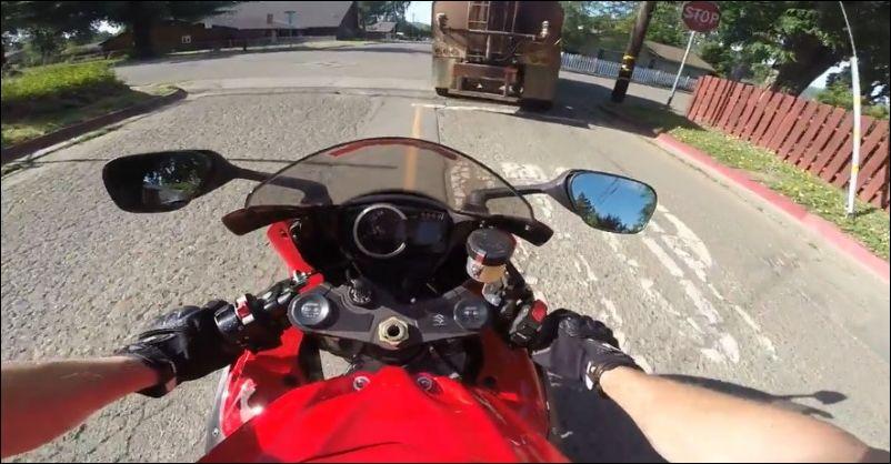 Пенсионер и мотоциклист
