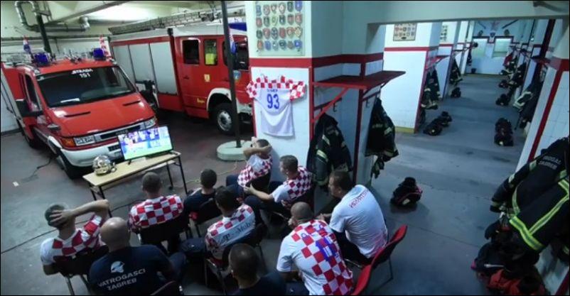 Хорватские пожарные