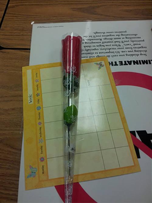 Необычный цветок, подаренный учителю
