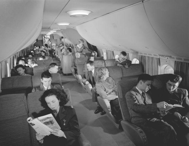 Архивные фотографии авиаперелётов 1950-х годов