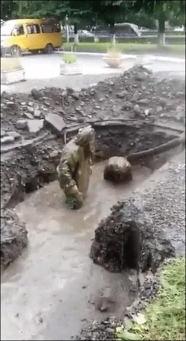 Рождение водопроводчиков во Владикавказе