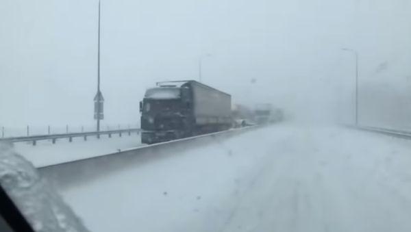 В Ростове на Дону выпал первый снег